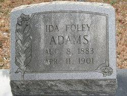 Ida T. <i>Foley</i> Adams