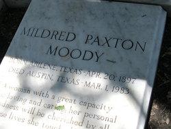Mildred <i>Paxton</i> Moody