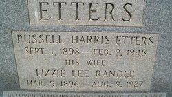 Lizzie Lee <i>Randle</i> Etters