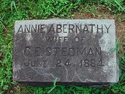 Annie <i>Abernathy</i> Stedman