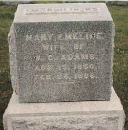 Mary Emeline Emma <i>Cox</i> Adams