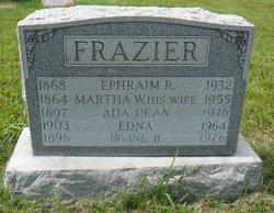 Martha W. <i>Dean</i> Frazier
