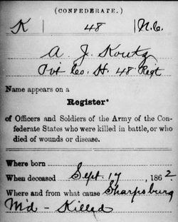 Pvt Andrew Jackson Koontz