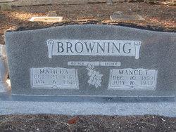 Matilda <i>Walters</i> Browning