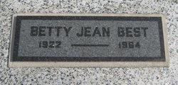 Betty Jean <i>Carter</i> Best