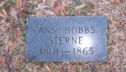 Anne <i>Hobbs</i> Sterne