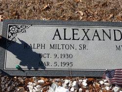 Ralph Milton Alexander, Sr