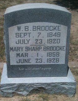Mary M. <i>Sharp</i> Broocke