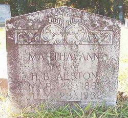 Martha Ann <i>Clemens</i> Alston