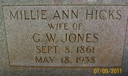 Millie Ann <i>Hicks</i> Jones