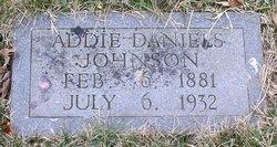 Addie <i>Daniels</i> Johnson