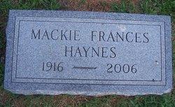 Mackie Frances Haynes