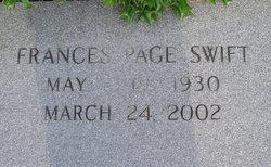 Frances Alma <i>Page</i> Swift
