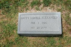 Hatty <i>Nowell</i> Alexander