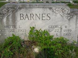 Mattie L Barnes