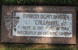 Marion <i>Ogan</i> Barnes