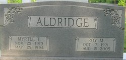 Myrtle Isabel <i>Tucker</i> Aldridge