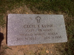 Capt Cecil Edmund Kline