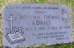 Rev William Thomas Tommy Adams
