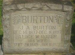 Alice Wilson Willie <i>Roper</i> Burton