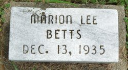 Marion Lee Betts