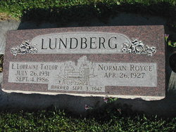 Eliza Lorraine <i>Taylor</i> Lundberg