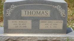 Annie Janet <i>Larson</i> Thomas