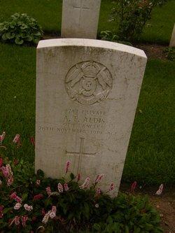 Private Arthur Ernest Aldis