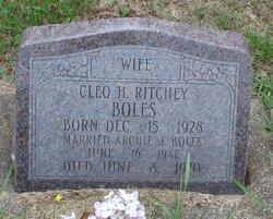 Cleo H <i>Ritchey</i> Boles