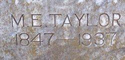 Mattie E. <i>Hicks</i> Taylor