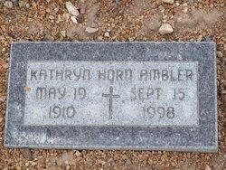 Kathryn <i>Horn</i> Ambler