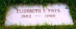 Elizabeth Florence Betty <i>Massmann</i> Pape