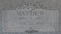 Mattie W Fant