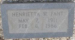 Henrietta W <i>White</i> Fant
