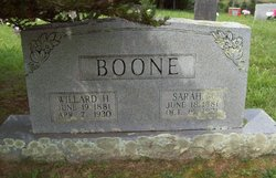 Sarah M. <i>Buchanan</i> Boone