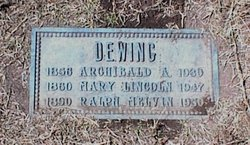 Mary Lincoln <i>Melvin</i> Dewing