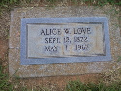 Alice W Love
