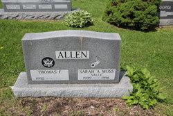 Sarah A Sally <i>Moss</i> Allen