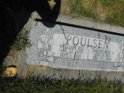 Sarah Ann <i>Johnson</i> Poulsen