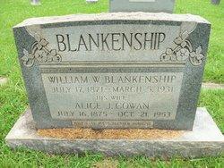 M Alice J <i>Cowan</i> Blankenship