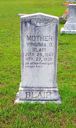 Virginia D <i>Center</i> Blair