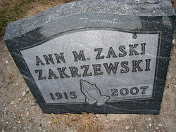 Ann M. <i>Zaski</i> Zakrzewski