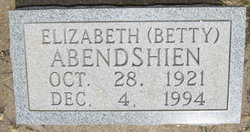 Elizabeth Betty Abendshien