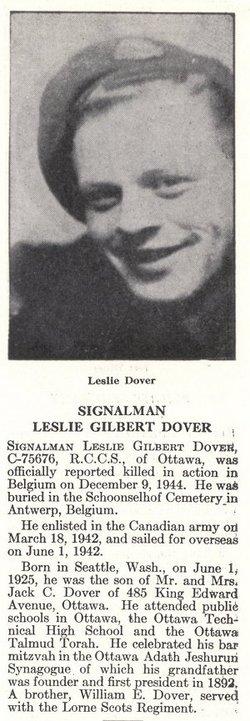 Signalman Leslie Gilbert Dover
