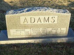 Minnie C Adams