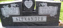 Malcolm Edwin Buck Alexander