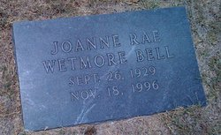 Joanne Rae <i>Wetmore</i> Bell