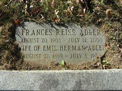 Frances <i>Reiss</i> Adler