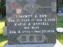 Maria A <i>Haskell</i> Dow