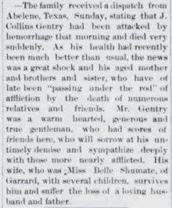 Joseph Collins Gentry